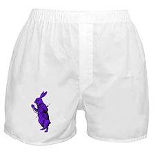 White Rabbit Purple Fill Boxer Shorts