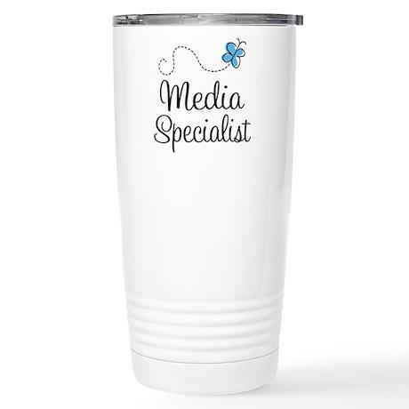Media Specialist Stainless Steel Travel Mug