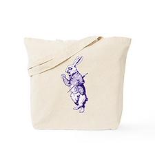 White Rabbit Purple Tote Bag