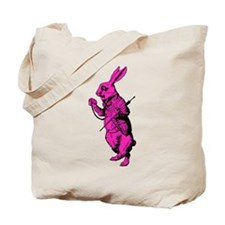 White Rabbit Pink Fill Tote Bag