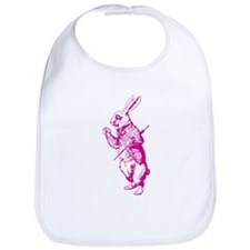 White Rabbit Pink Bib
