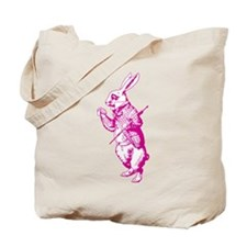White Rabbit Pink Tote Bag