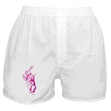 White Rabbit Pink Boxer Shorts