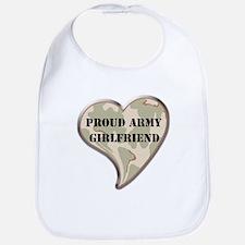 Army girlfriend camo heart Bib