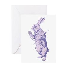 White Rabbit Lavender Greeting Card