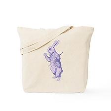 White Rabbit Lavender Tote Bag