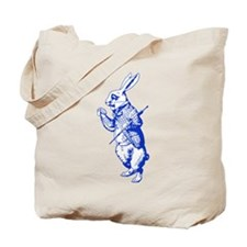 White Rabbit Blue Tote Bag