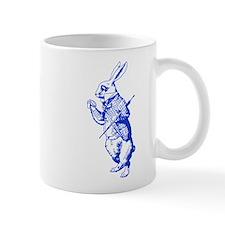 White Rabbit Blue Mug