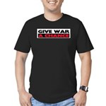 Give War A Chance Men's Fitted T-Shirt (dark)