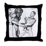 Obama & Aliens Throw Pillow