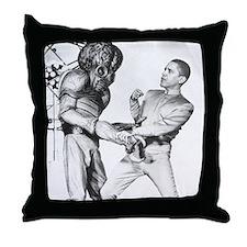 Obama & Aliens Throw Pillow