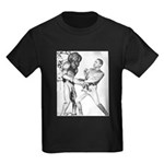 Obama & Aliens Kids Dark T-Shirt