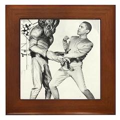 Obama & Aliens Framed Tile