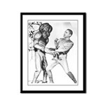 Obama & Aliens Framed Panel Print