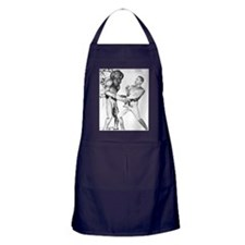 Obama & Aliens Apron (dark)