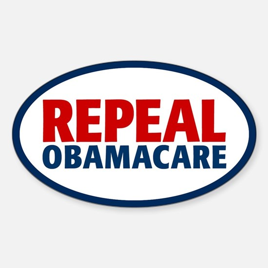 Repeal ObamaCare Sticker (Oval)