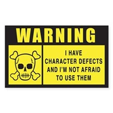 WARNING: Character Defects Decal