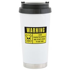 WARNING: Character Defects Travel Mug