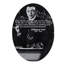 Comedy on Quantum Theory Oval Ornament