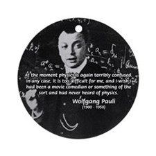 Comedy on Quantum Theory Ornament (Round)