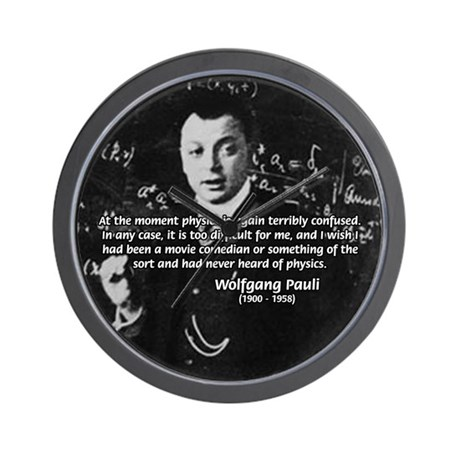 Comedy on Quantum Theory Wall Clock