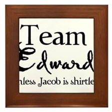 Team Edward unless... Framed Tile