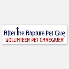 Volunteer Pet Caretaker Gear Bumper Bumper Sticker