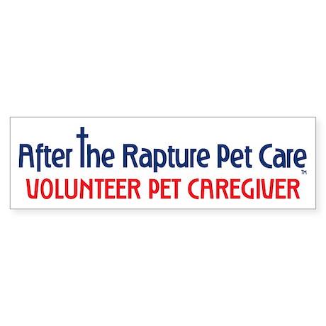 Volunteer Pet Caretaker Gear Sticker (Bumper)