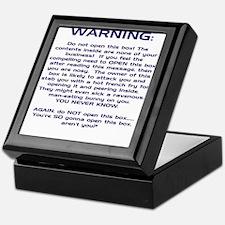 WARNING Keepsake Box