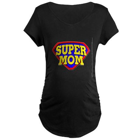 Super Mom Maternity Dark T-Shirt