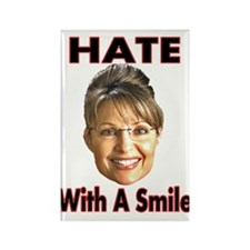 Smiling Hate Rectangle Magnet