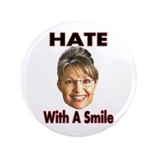 """Smiling Hate 3.5"""" Button"""