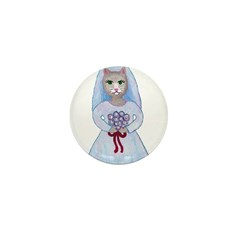 Wedding Cats Mini Button (10 pack)