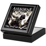 82nd airborne Square Keepsake Boxes
