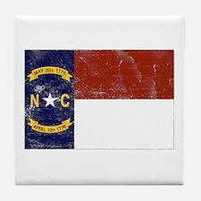 Vintage North Carolina State Tile Coaster