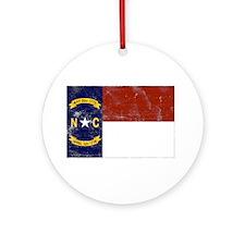 Vintage North Carolina State Ornament (Round)