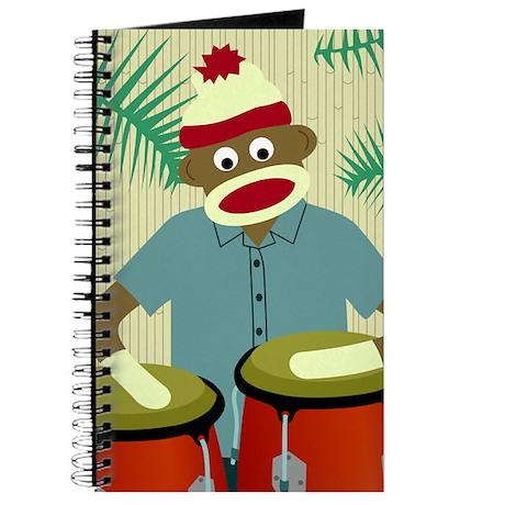 Sock Monkey Conga Drums Journal