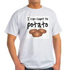I Can Count to Potato, Ash Grey T-Shirt