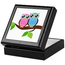 Two Owls Keepsake Box