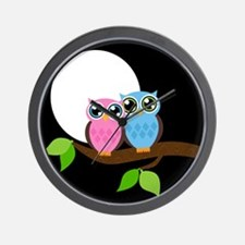 Two Owls Wall Clock