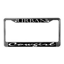 Cute Urban cowgirl License Plate Frame
