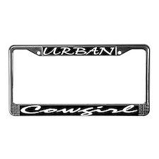 Unique Urban cowgirl License Plate Frame