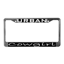 Cool Urban cowgirl License Plate Frame