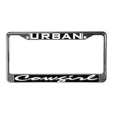 Urban cowgirl License Plate Frame
