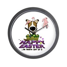 Collie - Happy Easter Wall Clock
