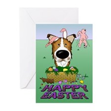 Collie - Happy Easter Greeting Cards (Pk of 10)