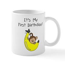 Boy Monkey 1st Birthday Mug