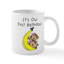 Twin Girls 1st Birthday Mug