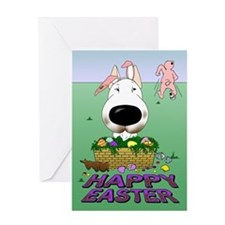 Bull Terrier Easter Greeting Card