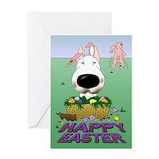 Bull Terrier Easter Greeting Card